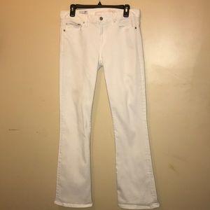 Gap 1969 Long and lean women's white denim jeans